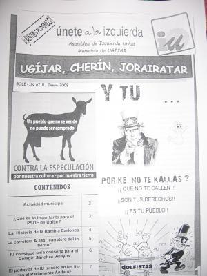 IZQUIERDA UNIDA DE UGÍJAR LANZA SU BOLETÍN Nº 8