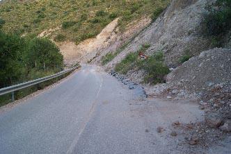 Lamentable situación de la carretera de Jorairatar 2