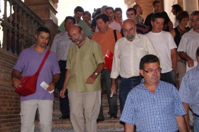 En Sevilla contra la reforma constitucional.- Agosto 2011